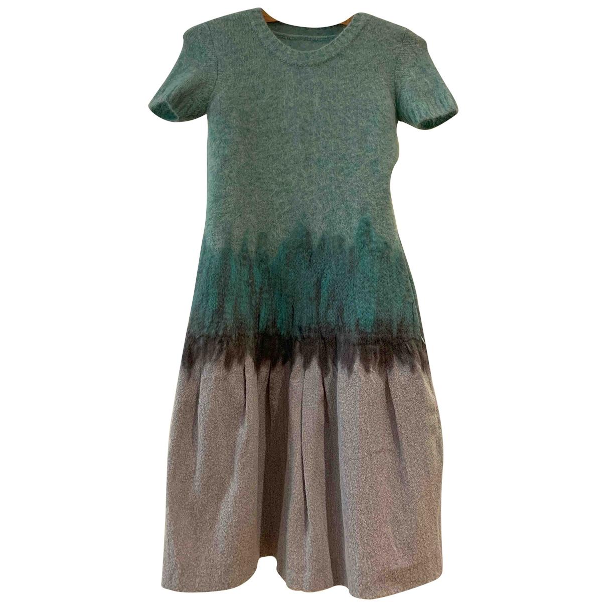 Nina Ricci - Robe   pour femme en laine - turquoise
