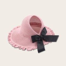 Bow Knot Decor Visor Hat
