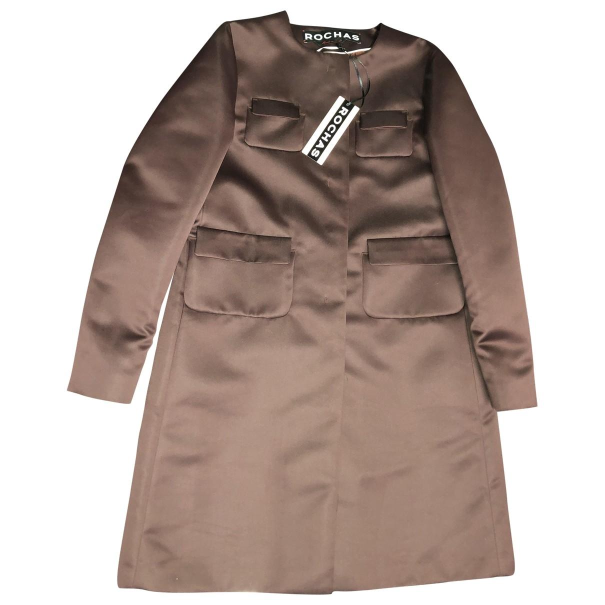 Rochas \N Burgundy Silk coat for Women 46 IT