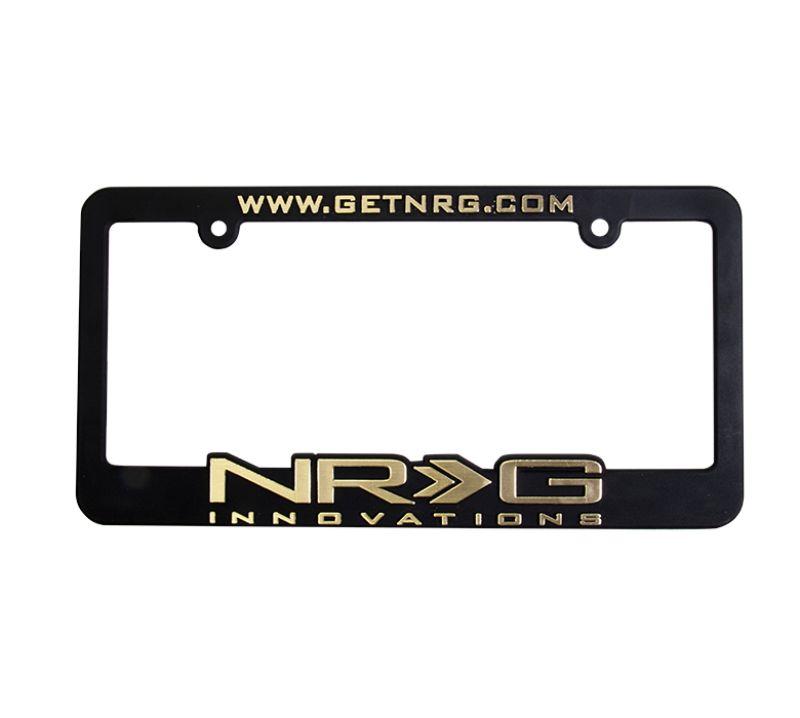 NRG LPF-101 License Plate Frame Gold