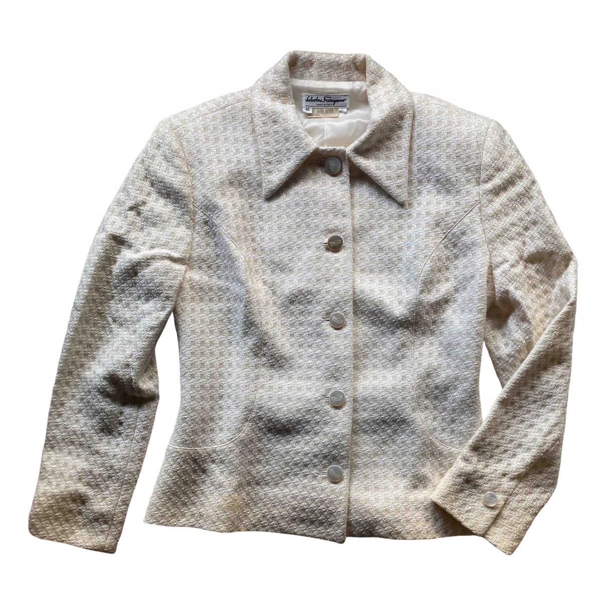 Salvatore Ferragamo - Veste   pour femme en laine - beige