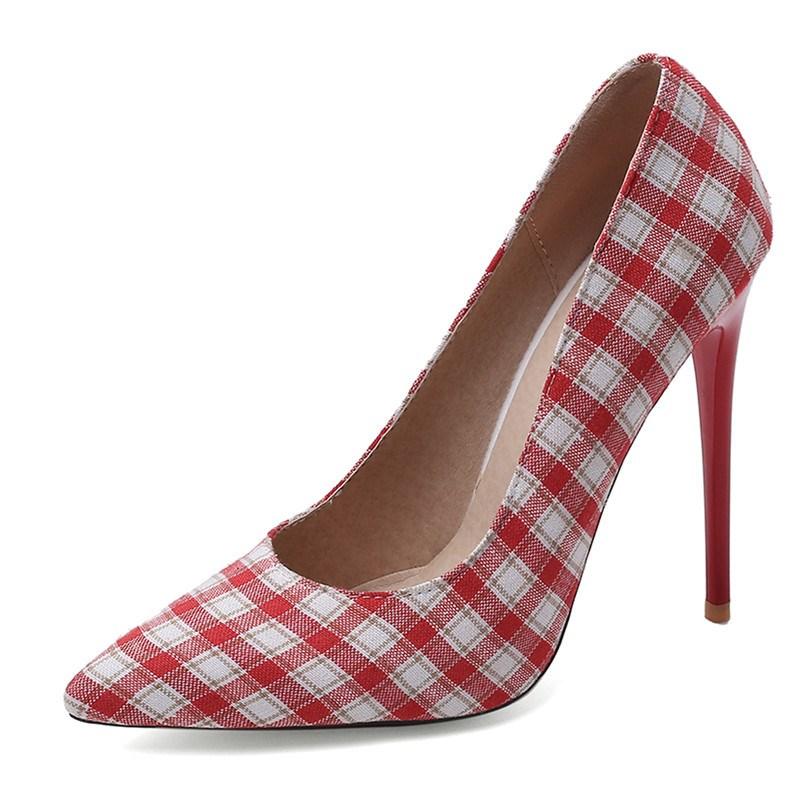 Ericdress Thread Stiletto Heel Pointed Toe Banquet Pumps