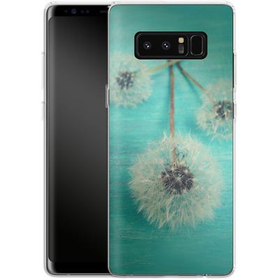 Samsung Galaxy Note 8 Silikon Handyhuelle - Three Wishes von Joy StClaire