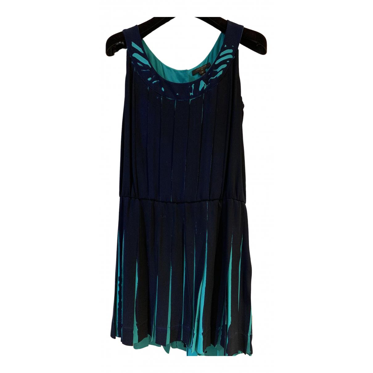 Louis Vuitton \N Kleid in  Marine Seide