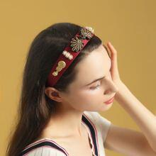 Aro de pelo con perla artificial
