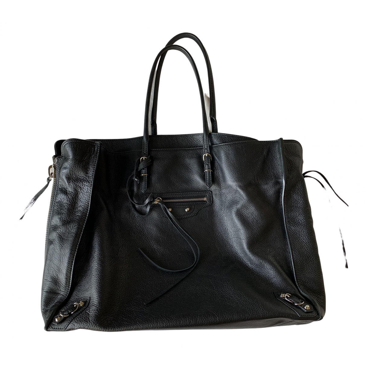 Balenciaga Papier Handtasche in  Schwarz Leder