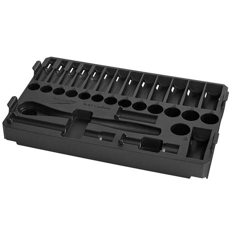 Milwaukee 3/8 in. 32 Pc. Ratchet and Socket Set in Packout™ - Metric Tray