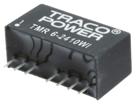 TRACOPOWER TMR 6WI 6W Isolated DC-DC Converter Through Hole, Voltage in 18 → 36 V dc, Voltage out 15V dc