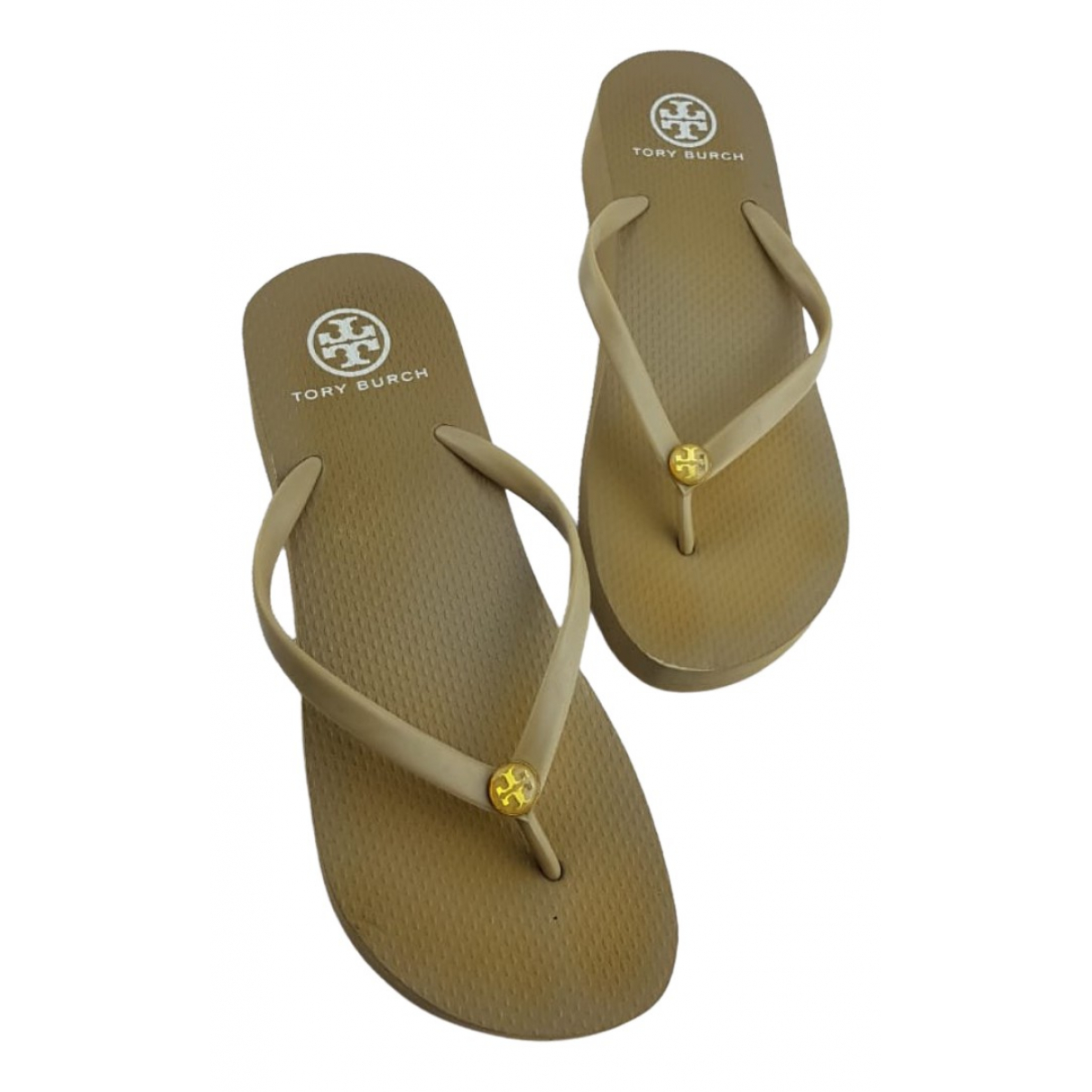 Tory Burch \N Beige Rubber Sandals for Women 37 EU