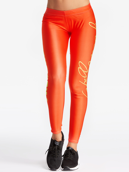 Yoins Red Letter Printed Riched Hip Sport Pants