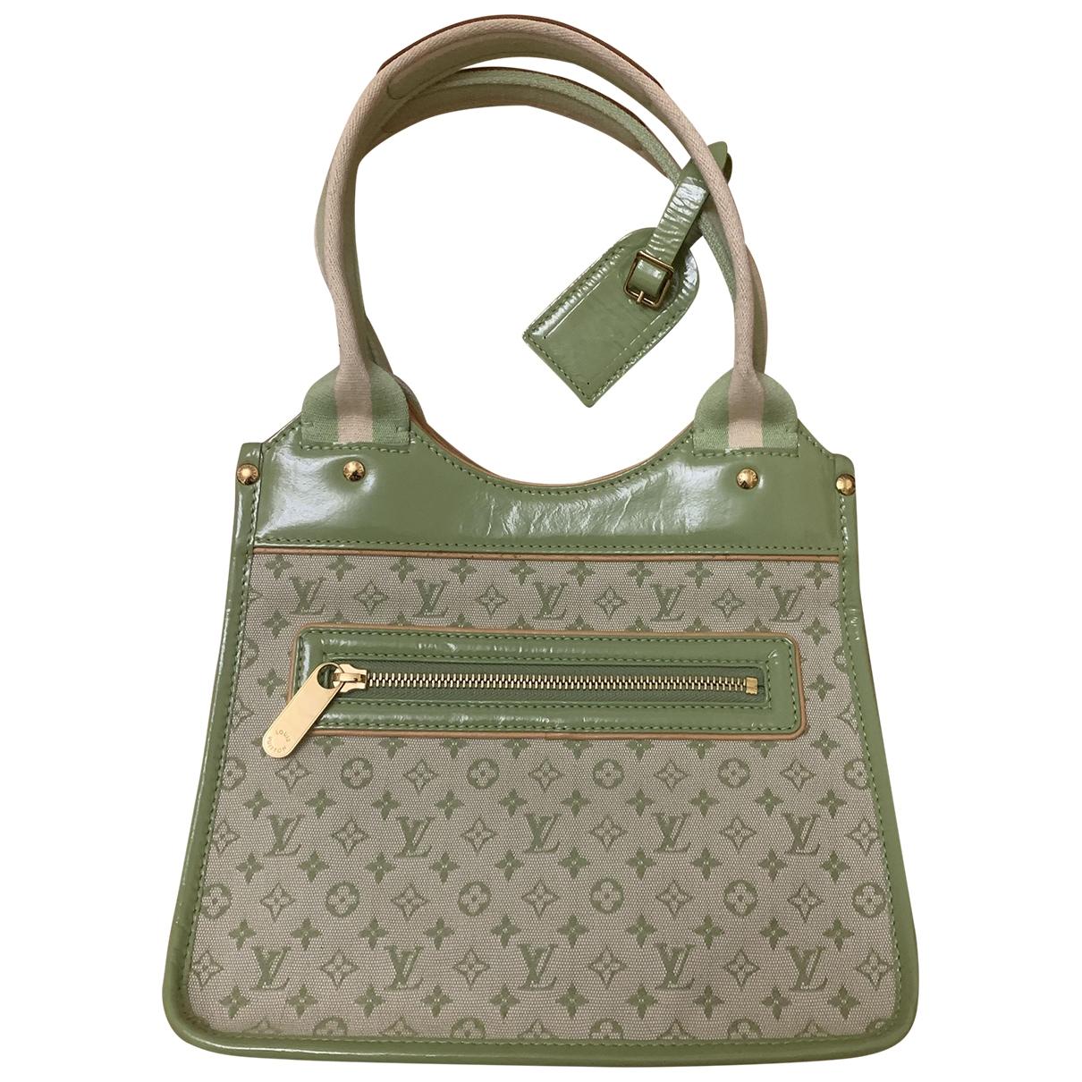 Louis Vuitton \N Handtasche in  Gruen Leinen