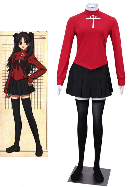 Milanoo Halloween Fate Stay Night Tosaka Rin Cosplay Disfraz