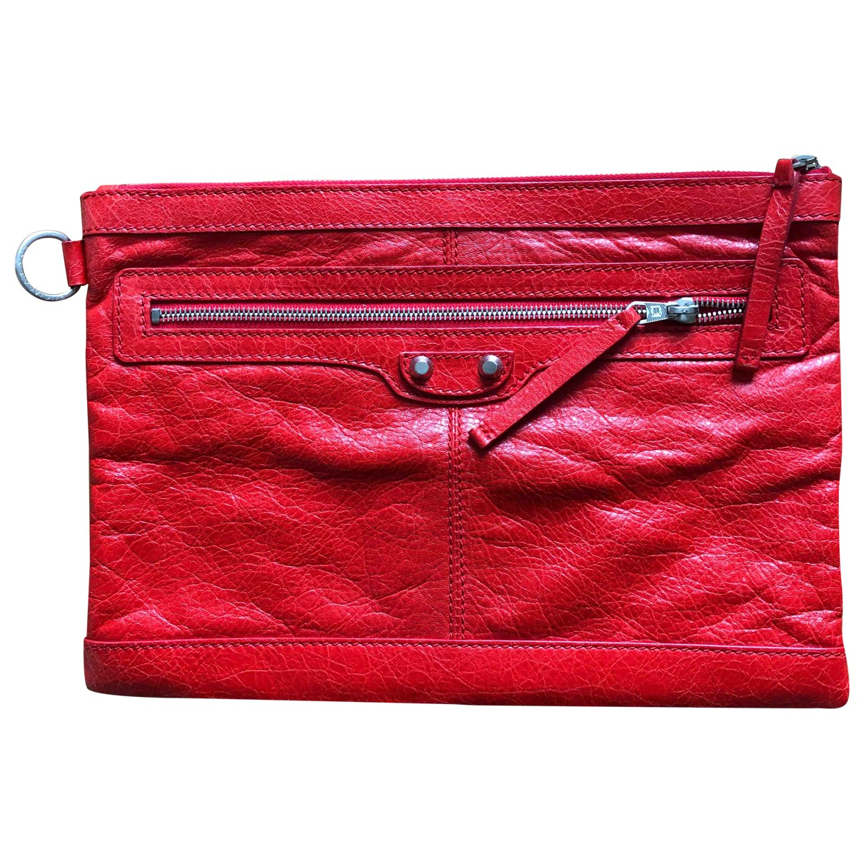 Balenciaga \N Red Leather Small bag, wallet & cases for Men \N