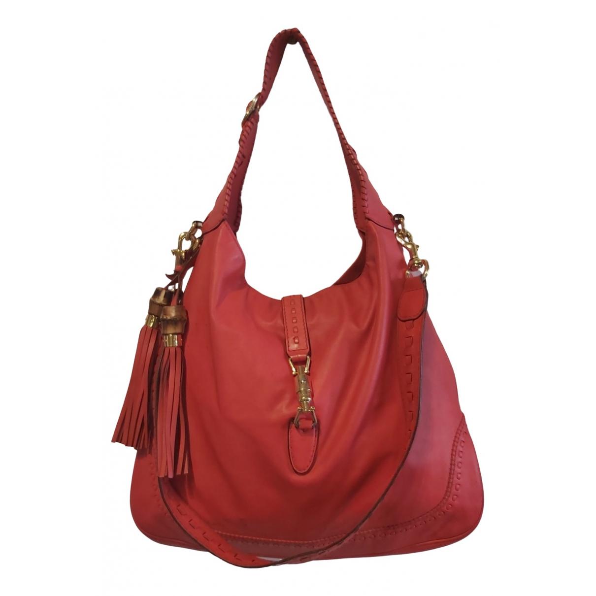 Gucci Jackie Handtasche in  Rot Leder