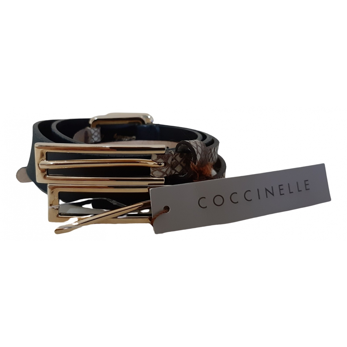 Coccinelle \N Black Leather belt for Women 95 cm