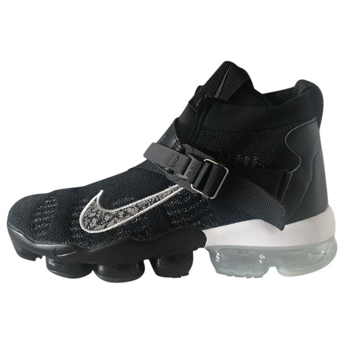 Nike Air VaporMax Sneakers in  Schwarz Leinen
