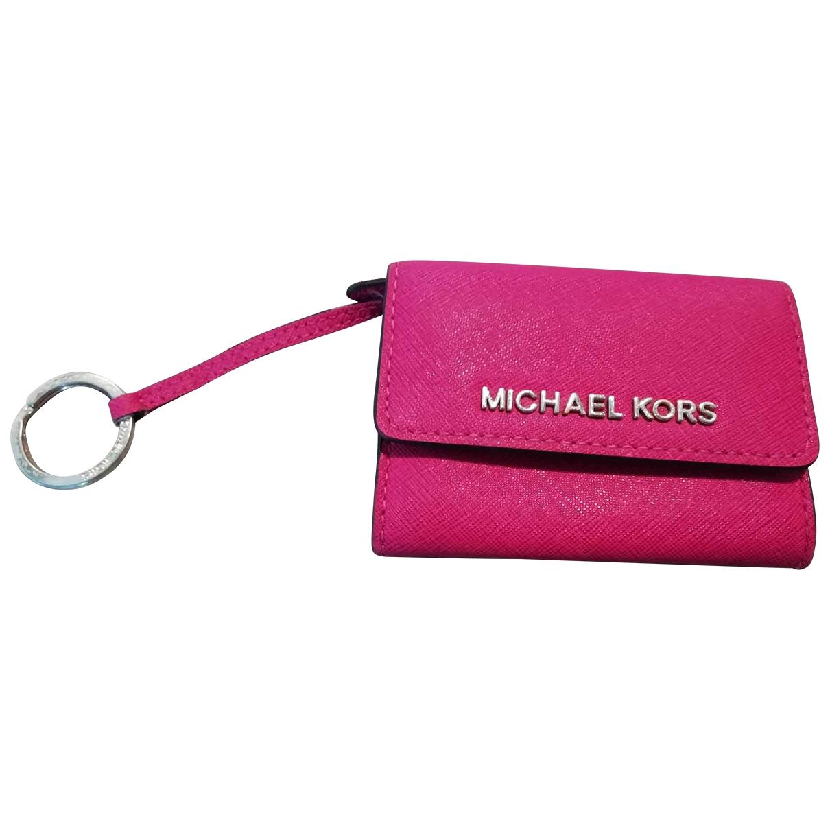 Michael Kors \N Portemonnaie in  Rosa Leder