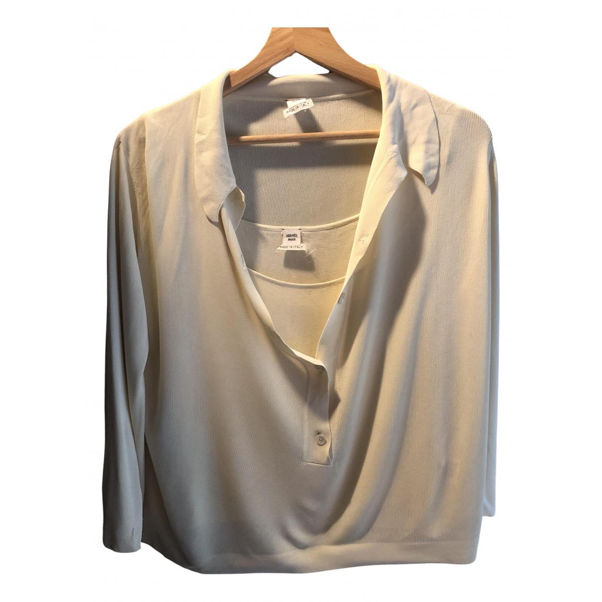 Hermes \N Pullover in  Beige Viskose