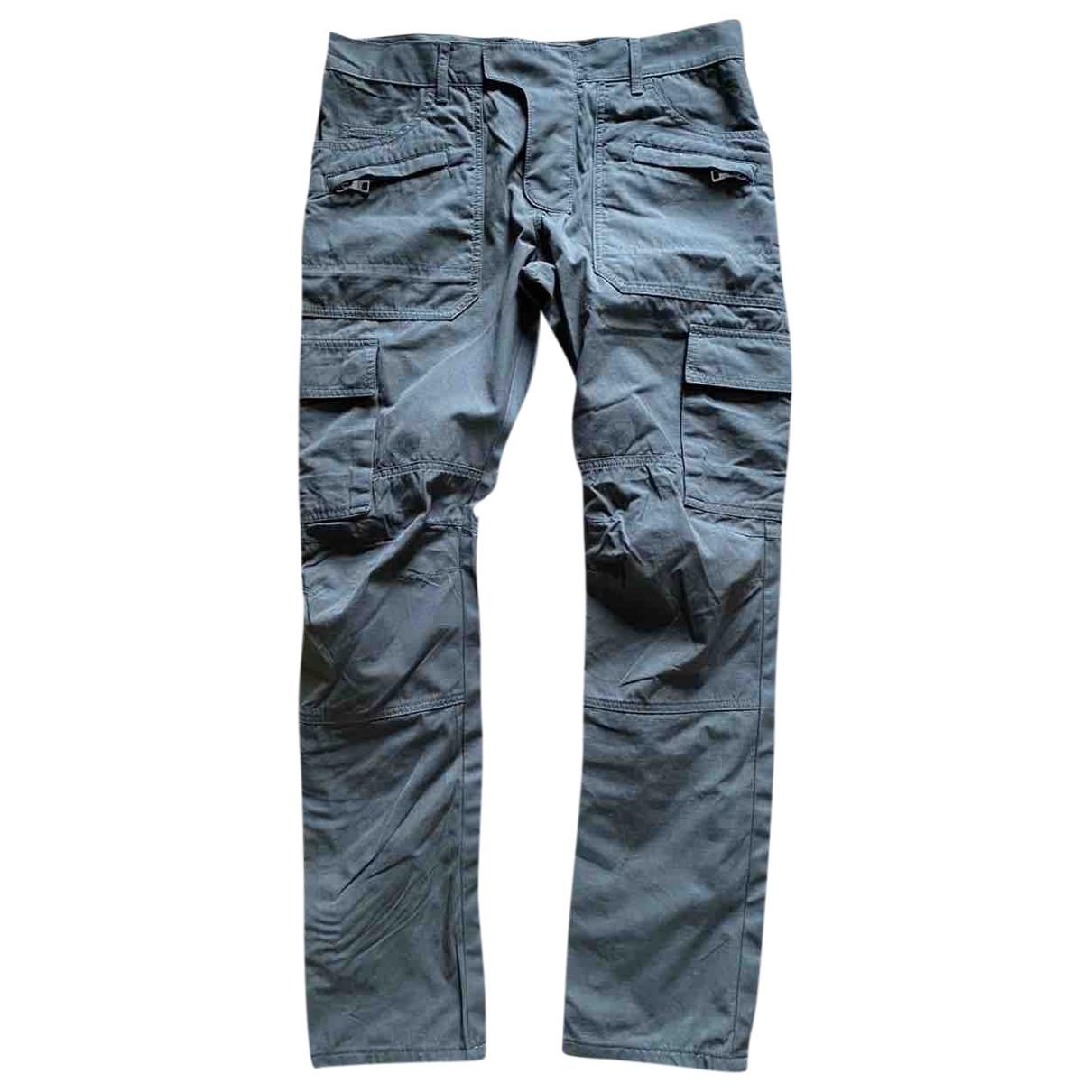 Balmain N Green Cotton Trousers for Men 48 IT