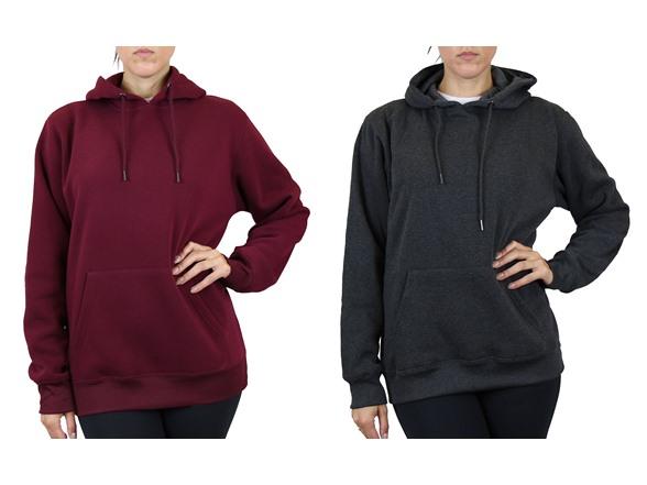 Women's 2pk Fleece-lined Pullover Hoodie