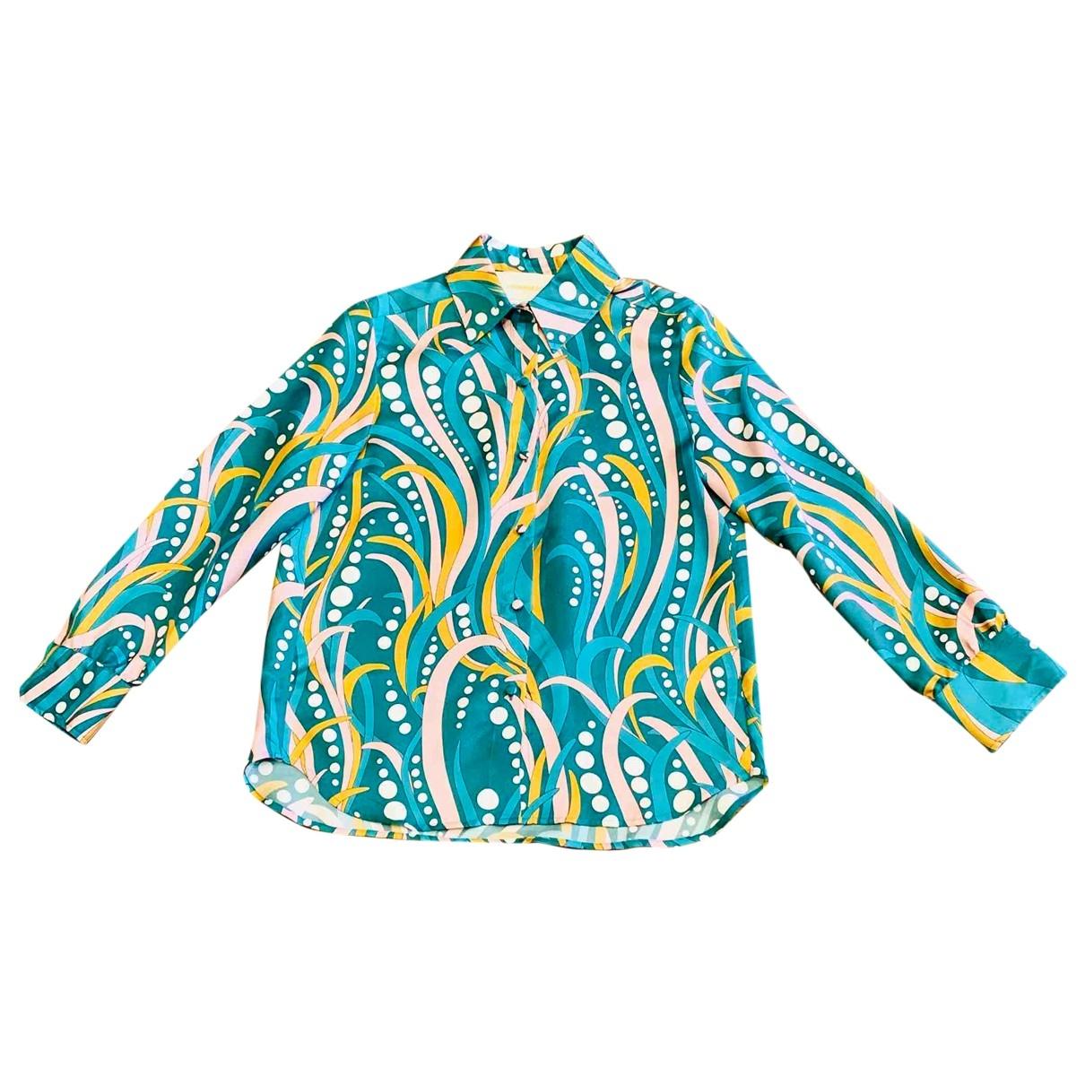 La Double J - Top   pour femme en soie - multicolore