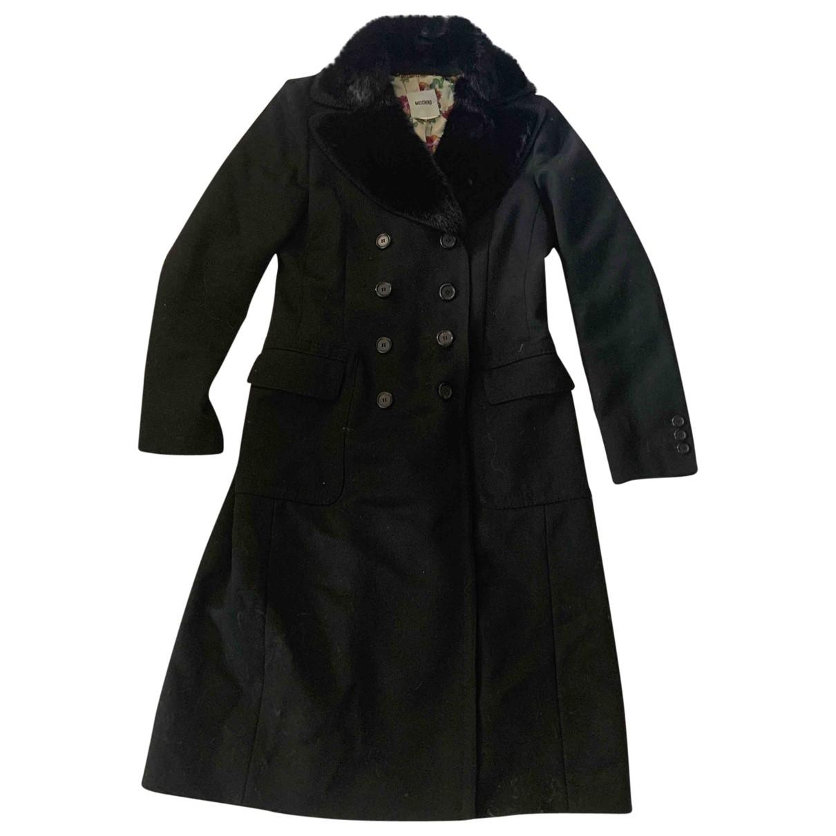 Moschino \N Black Wool coat for Women 10 UK