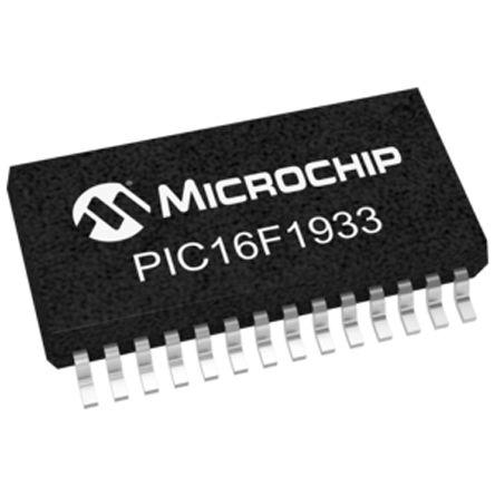 Microchip PIC16LF1933-I/SS, 8bit PIC Microcontroller, PIC16F, 32MHz, 256 B, 4096 x 14 words Flash, 28-Pin SSOP