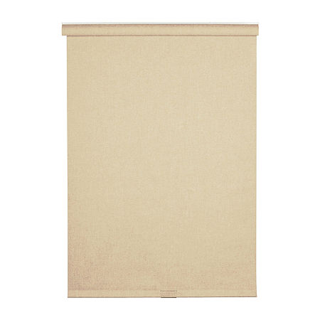Cordless Linen-Look Fabric Roller Shade, One Size , White