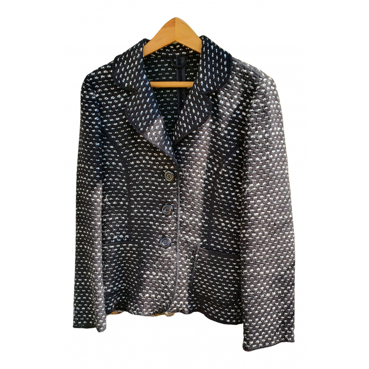 Non Signé / Unsigned N Grey Wool jacket for Women 40 IT