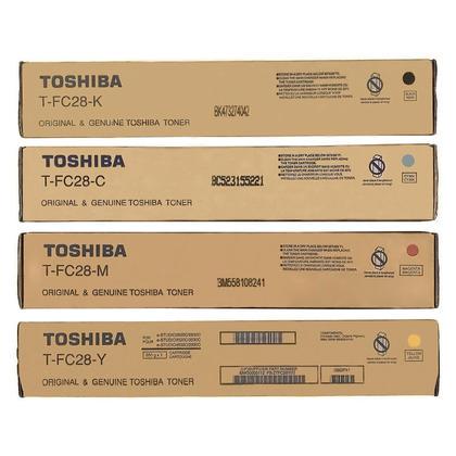 Toshiba T-FC28-K T-FC28-C T-FC28-M T-FC28-Y cartouche de toner originale combo BK/C/M/Y