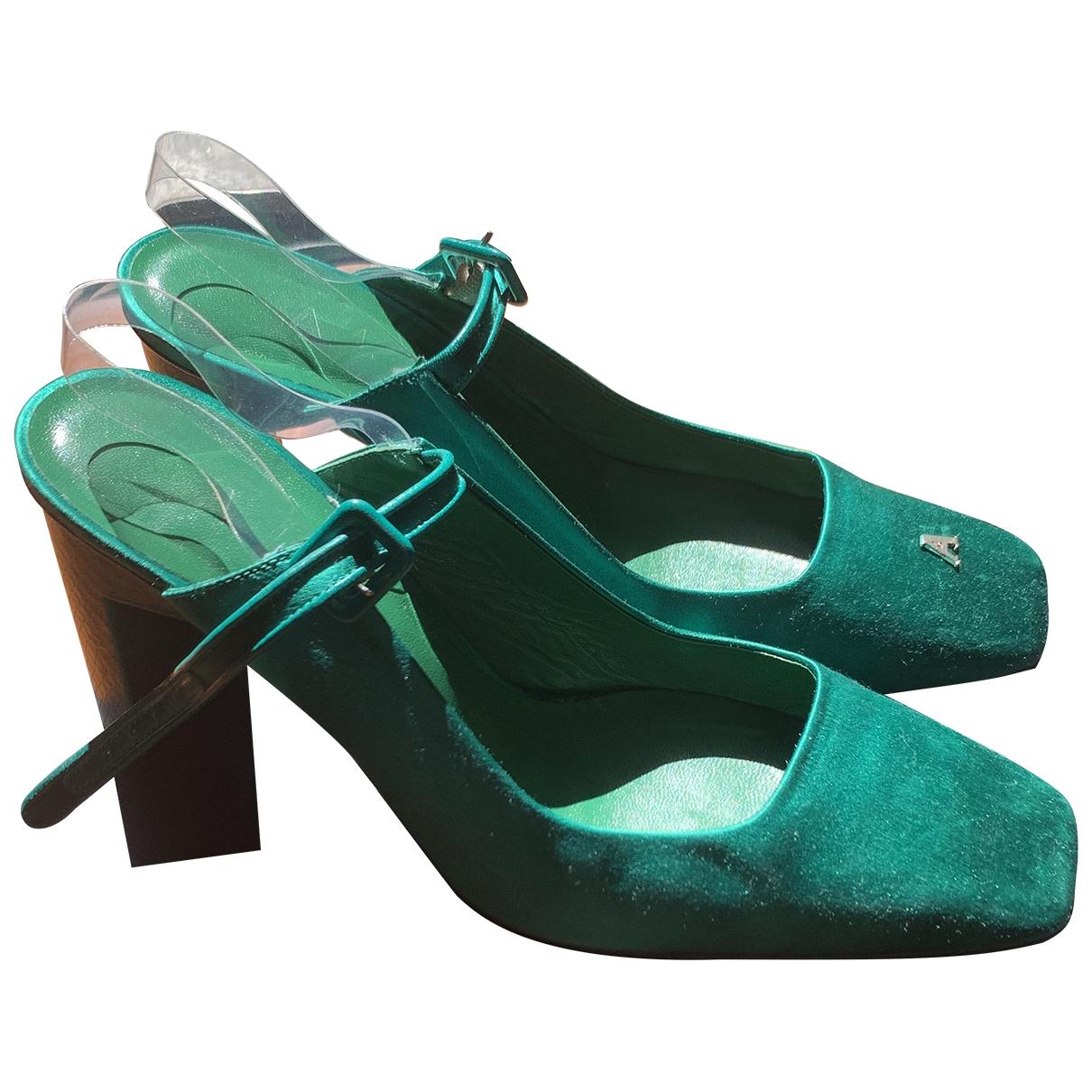 Alyx - Escarpins   pour femme en cuir - vert