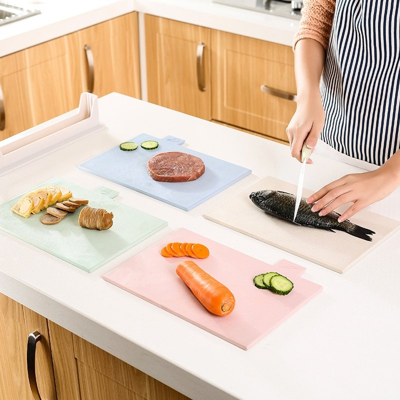 Four-piece SetColour Coded Chopping Board Cutting Kitchen Non Slip Food Preparation