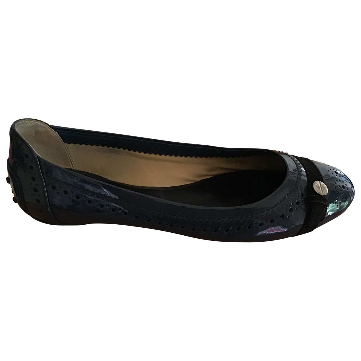 Tod's \N Blue Patent leather Ballet flats for Women 37 EU