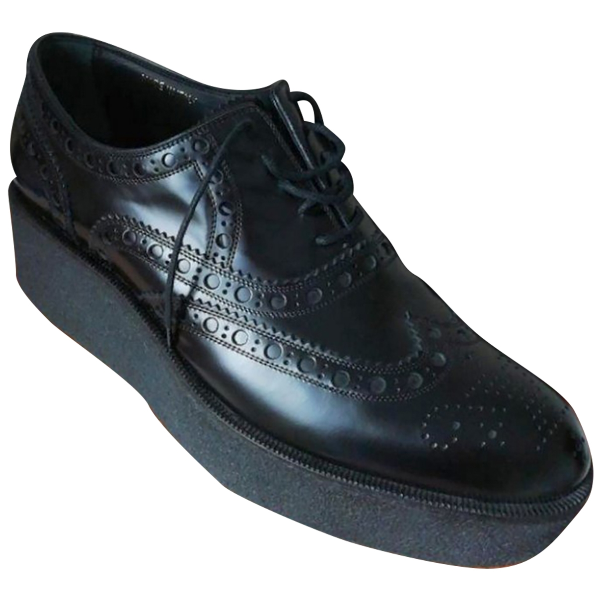 Louis Vuitton - Derbies   pour femme en cuir - noir