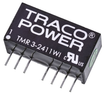 TRACOPOWER TMR 3WI 3W Isolated DC-DC Converter Through Hole, Voltage in 18 → 75 V dc, Voltage out ±5V dc