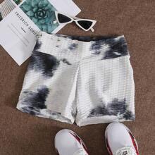Sports Shorts mit Batik und Taillenband