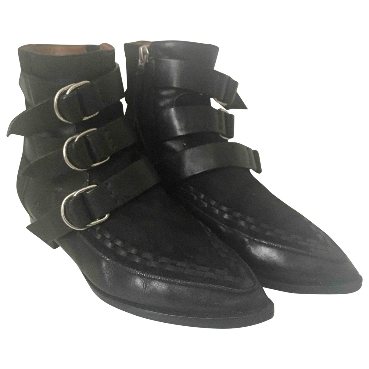 Isabel Marant \N Black Leather Ankle boots for Women 35 EU