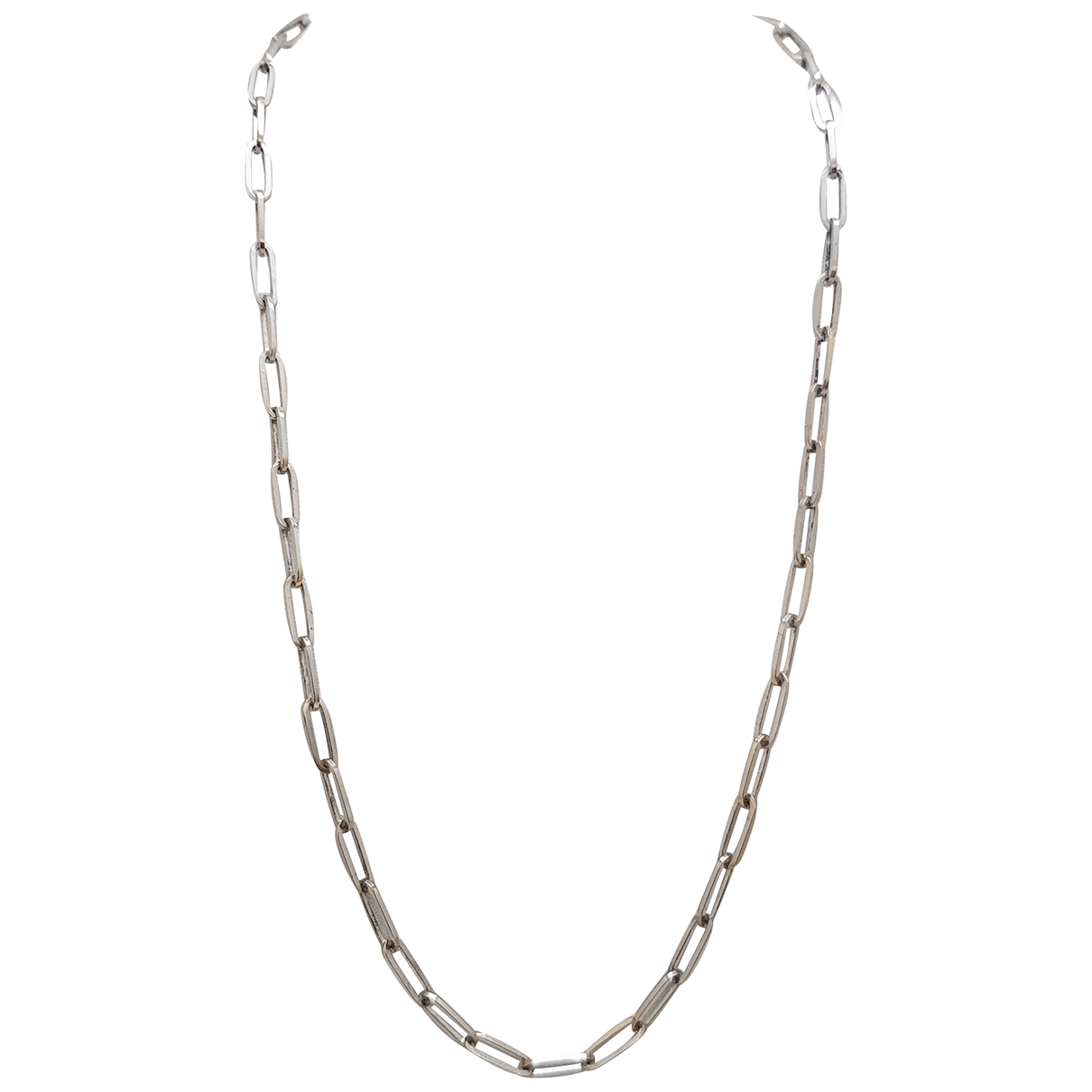 Non Signé / Unsigned Chaînes White White gold necklace for Women \N