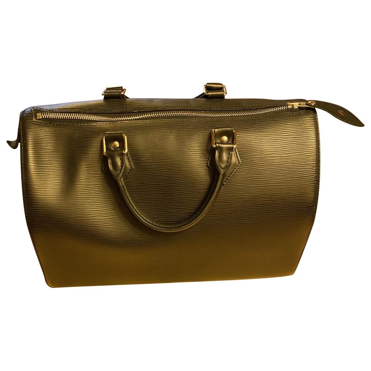 Louis Vuitton Speedy Black Leather handbag for Women \N