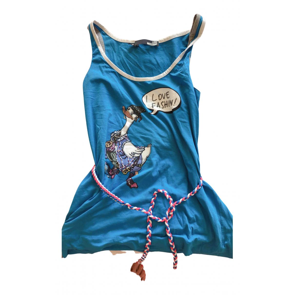 Moschino Love \N Top in  Blau Baumwolle