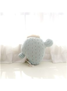 Cactus Shape Plush Light Blue Baby Throw Pillow