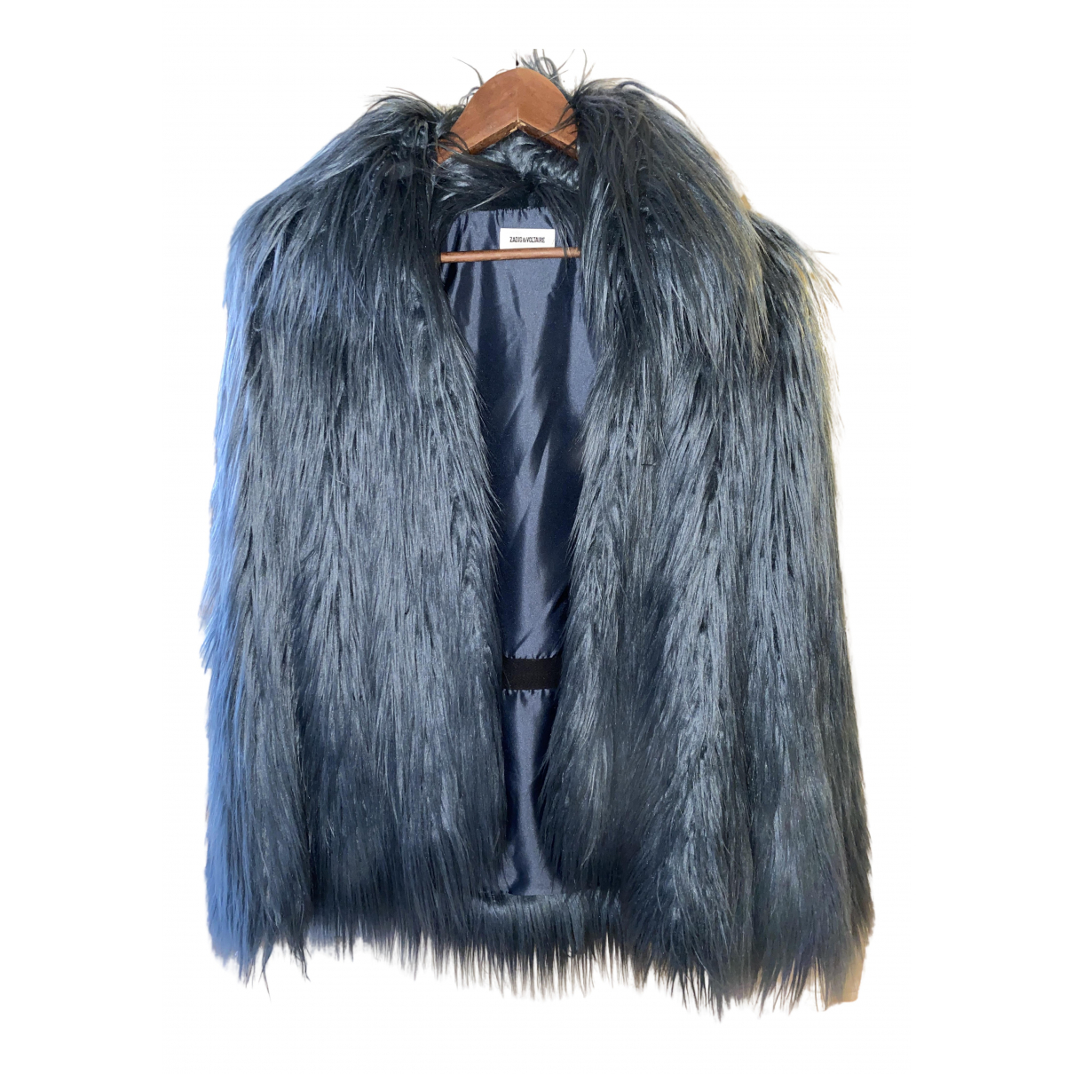 Zadig & Voltaire Fall Winter 2019 Blue Faux fur coat for Women 36 FR