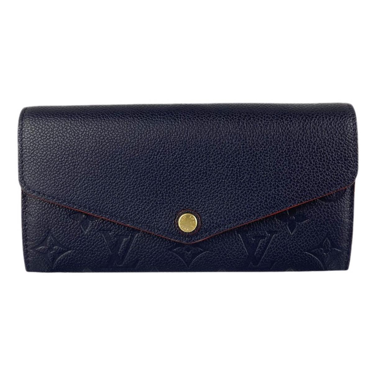 Louis Vuitton - Portefeuille Sarah pour femme en cuir - bleu