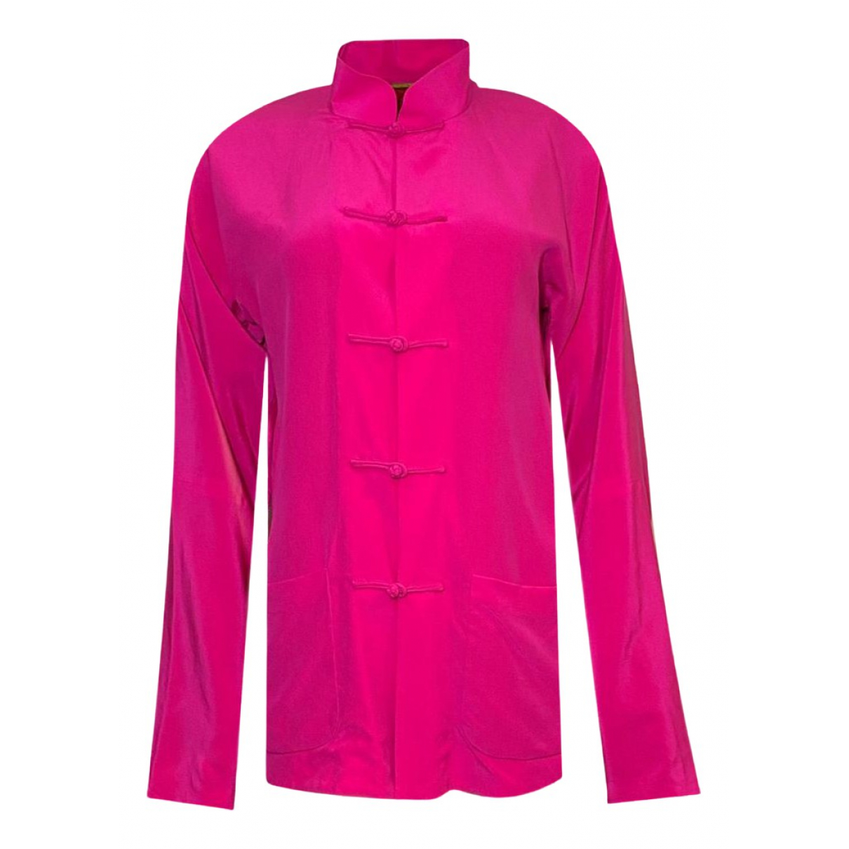 Non Signé / Unsigned N Pink Silk jacket for Women S International