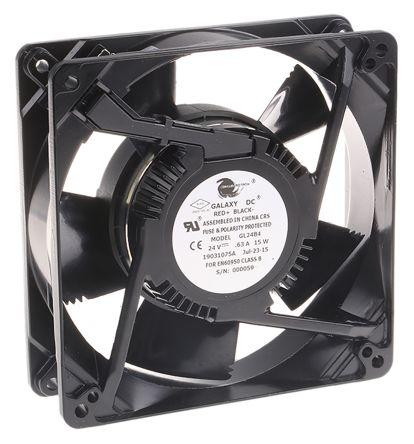 COMAIR ROTRON , 24 V dc, DC Axial Fan, 127 x 127 x 38mm, 255m³/h, 15W