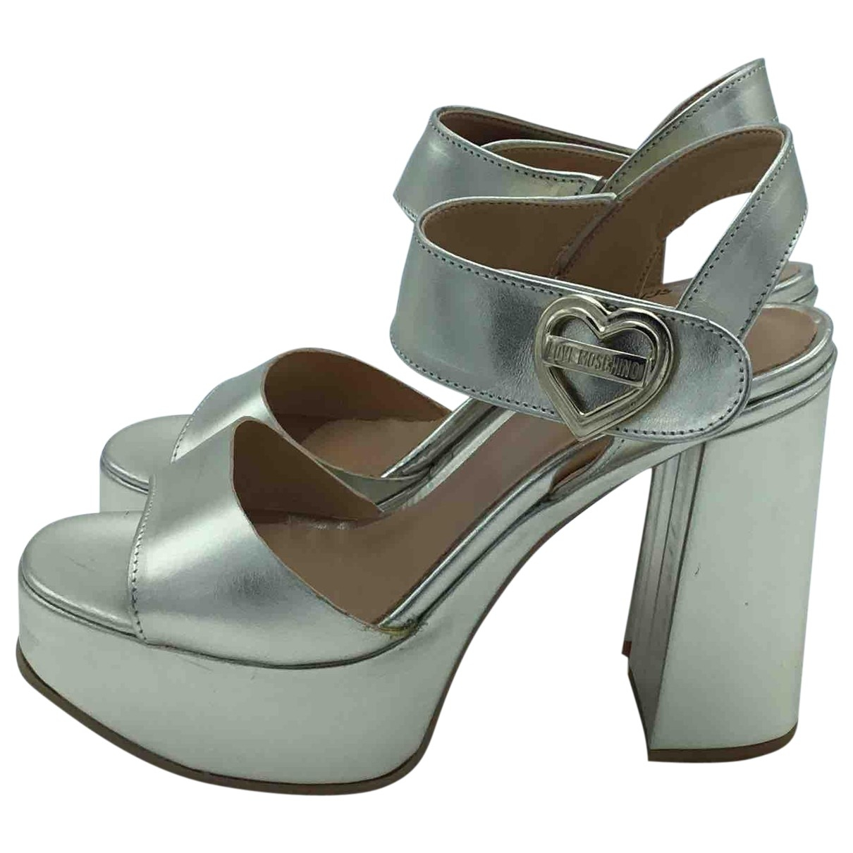 Sandalias de Cuero Moschino Love