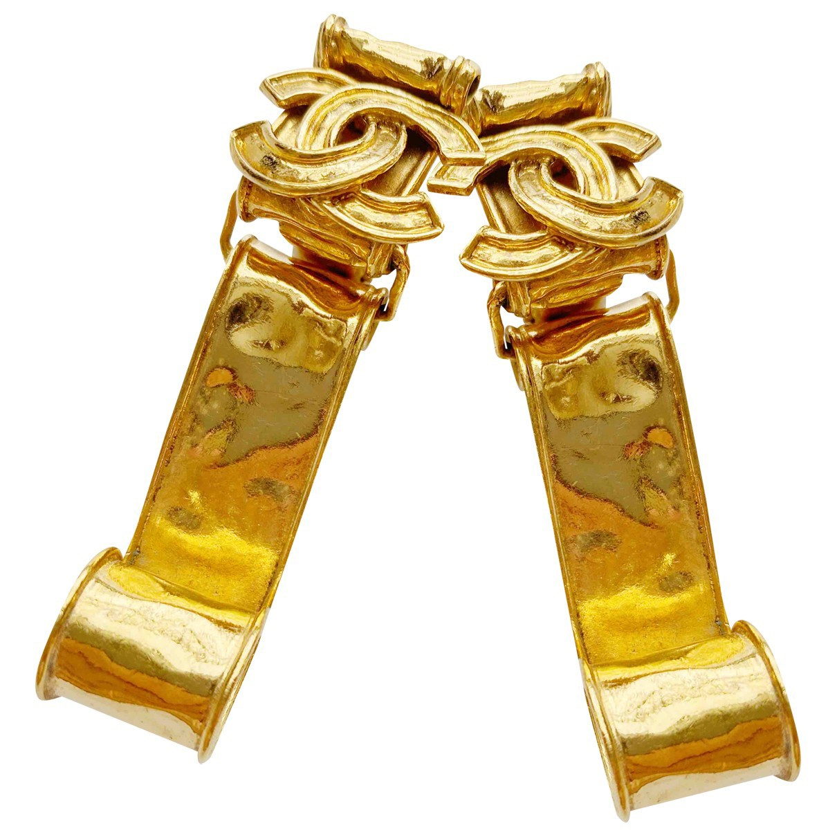 Chanel - Boucles doreilles   pour femme en metal