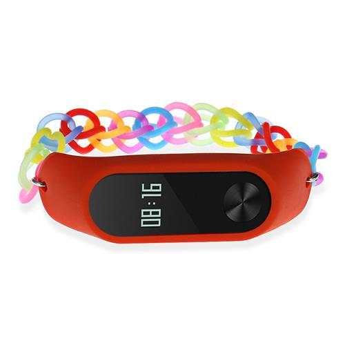 Xiaomi Mi Band 2 Stylish Silicone Bracelet Replacement Wristband Strap Summer Theme - Orange