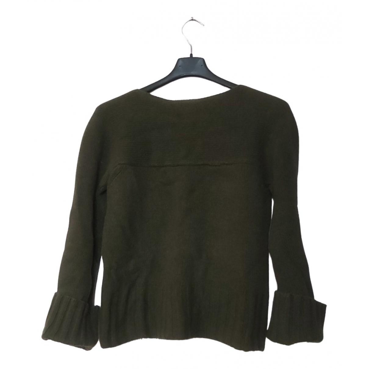 Stefanel - Pull   pour femme en laine - vert