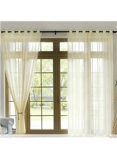 Sheer Curtains Window Voile Panels for Bedroom & Kitchen